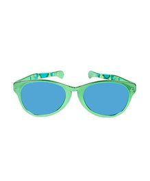 Funcart Jumbo Round Glasses Metallic Finish - Green
