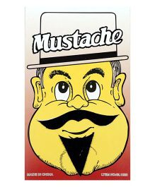 Single Stick On Moustache With Beard Design 3 - Black