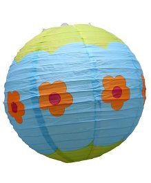 Funcart Paper Lantern Floral Print Blue - 31 cm