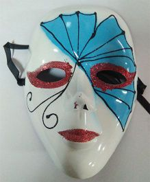 Funcart Fan Venetian Face Mask - Blue