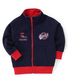 Olio Kids Full Sleeves Sweat Jacket Sport Embroidery - Blue