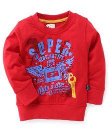 Olio Kids Full Sleeves T-Shirt Super Print - Red