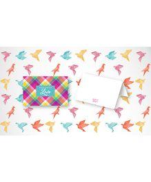 Kaam Dekho Naam Nahi Fancy Plaid Gift Tags - Multicolour