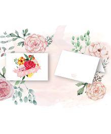 Kaam Dekho Naam Nahi Vintage Bloom Gift Tags - White