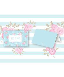 Kaam Dekho Naam Nahi Cuteness Overload Floral Gift Tags - Sky Blue