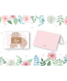 Kaam Dekho Naam Nahi Floral Blush Gift Tags - Light Pink