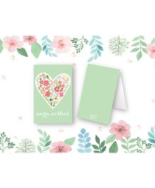 Kaam Dekho Naam Nahi Floral Mint Gift Tags - Light Green