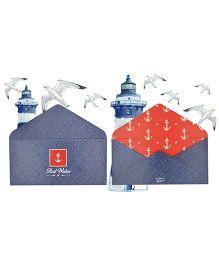 Kaam Dekho Naam Nahi Captain Anchor Envelopes - Blue