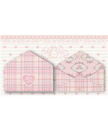 Kaam Dekho Naam Nahi Pretty Pink Envelopes - Pink