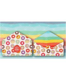 Kaam Dekho Naam Nahi Colourful Donut Envelopes - Multicolour