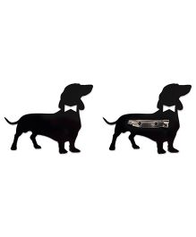 Kaam Dekho Naam Nahi Puppy Brooch - Black