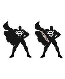 Kaam Dekho Naam Nahi Super Hero Brooch - Black