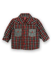 Lilliput Kids Full Sleeves Check Shirt - Red