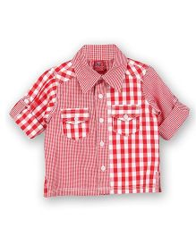 Lilliput Kids Short Sleeves Checks Shirt - Poppy Red
