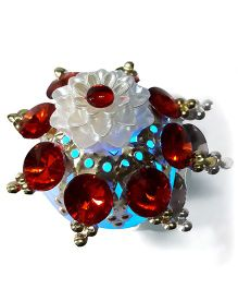 Sugarcart Diya With Studs & Colour Changing Lights - Red
