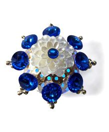 Sugarcart Dome Shaped Diya With Studs & Colour Changing Lights - Blue