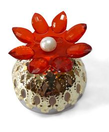 Sugarcart Crystal Flower Diya & Colour Changing Lights - Red