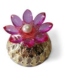 Sugarcart Crystal Flower Diya & Colour Changing Lights - Pink