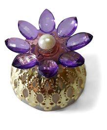 Sugarcart Crystal Flower  Diya & Colour Changing Lights - Purple