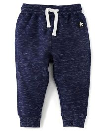 Fox Baby Full Length Track Pants With Drawstring - Blue