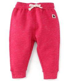 Fox Baby Full Length Track Pants With Drawstring - Fuchsia