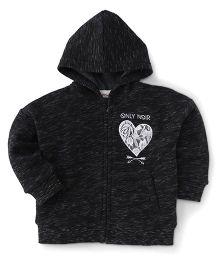 Fox Baby Full Sleeves Hoodie Jacket - Black