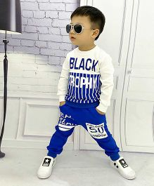 Pre Order - Aww Hunnie Lines Boys Autumn Winter Track Suit - Blue