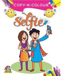 Copy And Colour Selfie Colouring Book For Kids - English