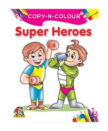 Copy N Colour Super Heroes - English