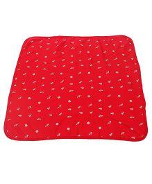 Zero Cotton Wrapper Allover Print - Red