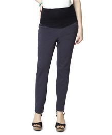 Nine Full Length Maternity Trouser - Grey