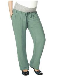 Nine Full Length Plain Maternity Pyjama - Green