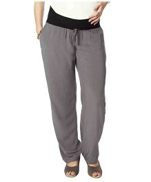 Nine Full Length Plain Maternity Pyjama - Grey