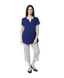 Nine Maternity Pyjama Set - Royal Blue