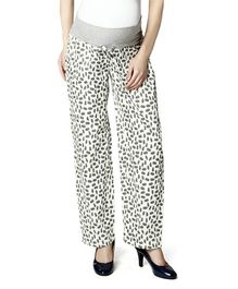 Nine Full Length Maternity Printed Pyjama - White