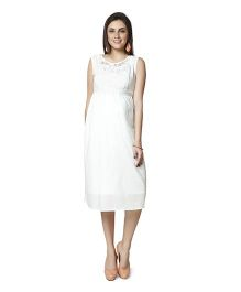 Nine Sleeveless Maternity Dress - White
