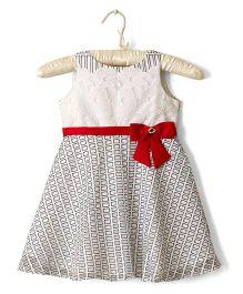 Nitallys Smart Checkered Dress - Black Red White