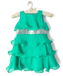 Nitallys Classy Layered Dress - Sea Green