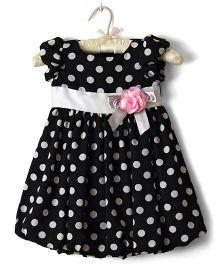 Nitallys Dotted Balloon Dress - Black & White