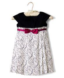 Nitallys Nautical Dress - Black & White