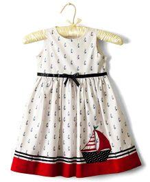 Nitallys Anchor Print Dress - White