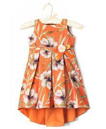 Nitallys Floral Hi-Lo Dress - Orange
