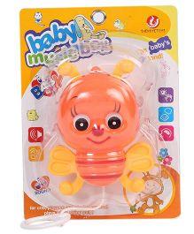 Kumar Toys Pull Along Bee Orange - 12 cm