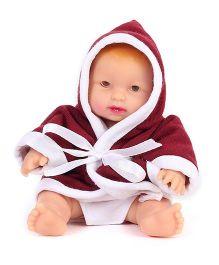 Speedage Sonu Monu Baby Doll Maroon - 10 cm