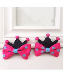 Supply Station Hair Clip Pink Black - Single Piece