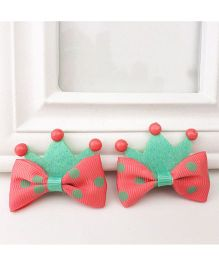Supply Station Hair Clip Green Pink - Single Piece
