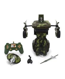 Smiles Creation Warrior Transformer Robot Car - Green