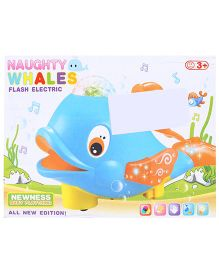Smiles Creation Electrical Whale With Light - Pink