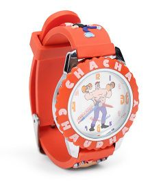 Fantasy World Analog Wrist Watch Chacha Chaudhary Sabu Print - Orange