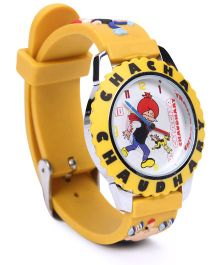 Fantasy World Chacha Chaudhary Analog Wrist Watch - Yellow